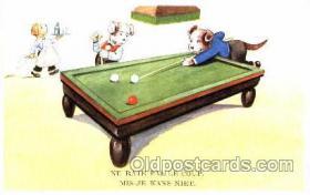 spo018076 - Dogs Playing Billiards, Pool Postcard Postcards