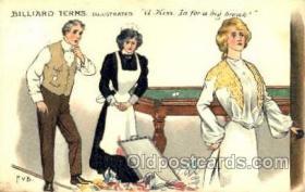 spo018078 - Billiards, Pool Postcard Postcards