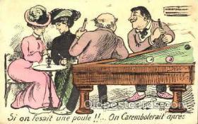 spo018082 - Billiards, Pool Postcard Postcards