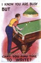 spo018095 - Billiards, Pool Postcard Postcards
