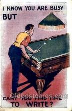 spo018103 - Billiards, Pool Postcard Postcards