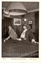 spo018204 - Miss Zena & Phyllis Dare, Pool, Billiard, Billiards, Postcard Postcards