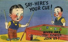 spo018220 - Billiards, Pool Postcard Postcards