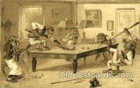 spo018221 - Billiards, Pool Postcard Postcards