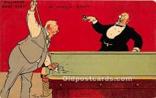 spo018234 - Old Vintage Pool / Billards Postcard Post Card