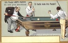 spo018237 - Old Vintage Pool / Billards Postcard Post Card