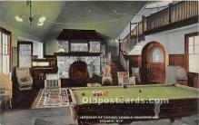 spo018240 - Old Vintage Pool / Billards Postcard Post Card