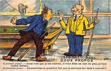 spo018245 - Old Vintage Pool / Billards Postcard Post Card