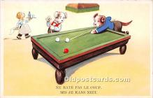 spo018261 - Old Vintage Pool / Billards Postcard Post Card