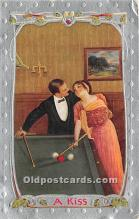 spo018277 - Old Vintage Pool / Billards Postcard Post Card