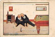 spo018288 - Old Vintage Pool / Billards Postcard Post Card