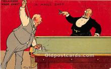 spo018289 - Old Vintage Pool / Billards Postcard Post Card