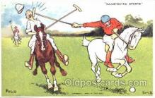 spo019017 - Artist Tom Brown, Polo Postcard Postcards
