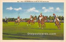 spo019042 - Old Vintage Polo Postcard Post Card