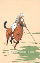 spo019048 - Old Vintage Polo Postcard Post Card