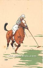 spo019048 - Old Vintage Polo Postcard Post Card