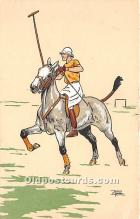 spo019049 - Old Vintage Polo Postcard Post Card
