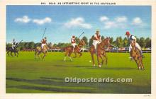 spo019062 - Old Vintage Polo Postcard Post Card