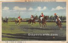 spo019063 - Old Vintage Polo Postcard Post Card