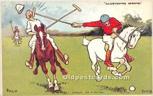 spo019066 - Old Vintage Polo Postcard Post Card