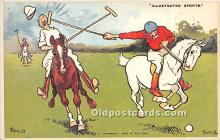 spo019067 - Old Vintage Polo Postcard Post Card