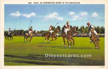 spo019072 - Old Vintage Polo Postcard Post Card