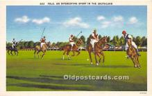 spo019073 - Old Vintage Polo Postcard Post Card
