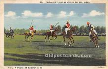 spo019075 - Old Vintage Polo Postcard Post Card
