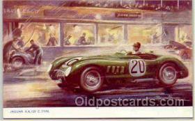 spo020006 - Jaguar X.K. 120 postcard postcards