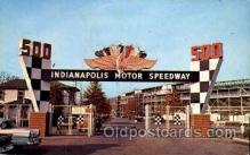 spo020187 - Indianapolis Mptor Speedway, Indianna, USA Auto, Automotive, Car Racing Postcard Postcards