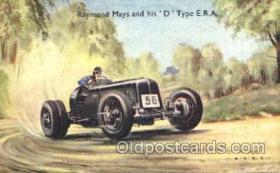 spo020204 - Raymond Mays and His 'D' type E.R.A. Auto, Automotive, Car Racing Postcard Postcards