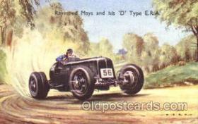spo020205 - Raymond Mays and His 'D' type E.R.A. Auto, Automotive, Car Racing Postcard Postcards