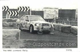spo020219 - The 1989 Lombard Rally New card, 1989 postcard, Auto, Automotive, Car Racing Postcard Postcards