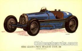 spo020221 - 1934 Grand Prix Bugatti Type 59 Auto, Automotive, Car Racing Postcard Postcards