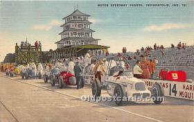 spo020641 - Old Vintage Auto Racing Postcard Post Card
