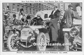 spo020657 - Old Vintage Auto Racing Postcard Post Card