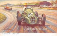 spo020681 - Old Vintage Auto Racing Postcard Post Card