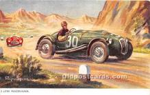 spo020684 - Old Vintage Auto Racing Postcard Post Card