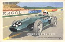 spo020730 - Old Vintage Auto Racing Postcard Post Card