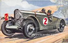spo020753 - Old Vintage Auto Racing Postcard Post Card