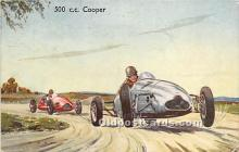 spo020757 - Old Vintage Auto Racing Postcard Post Card