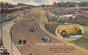 spo020761 - Old Vintage Auto Racing Postcard Post Card