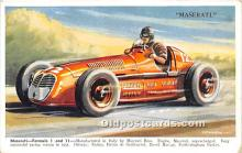 spo020782 - Old Vintage Auto Racing Postcard Post Card