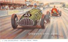 spo020795 - Old Vintage Auto Racing Postcard Post Card