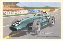 spo020801 - Old Vintage Auto Racing Postcard Post Card