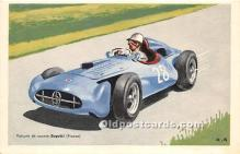 spo020810 - Old Vintage Auto Racing Postcard Post Card