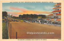 spo020815 - Old Vintage Auto Racing Postcard Post Card