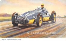 spo020824 - Old Vintage Auto Racing Postcard Post Card