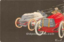 spo020826 - Old Vintage Auto Racing Postcard Post Card