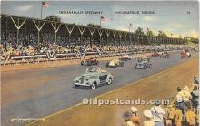 spo020844 - Old Vintage Auto Racing Postcard Post Card